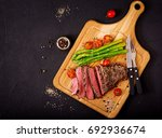 Juicy Steak Rare Beef With...