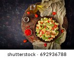 salad   fusilli pasta with... | Shutterstock . vector #692936788