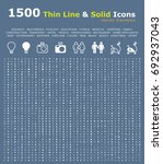 set of 1500 thin line and solid ... | Shutterstock .eps vector #692937043