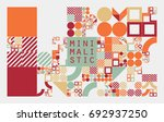 subdivided grid system with... | Shutterstock .eps vector #692937250