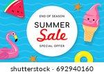 summer sale banner vector...   Shutterstock .eps vector #692940160