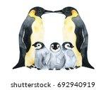 emperor penguins with children... | Shutterstock . vector #692940919