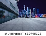 twilight shot with the shanghai ... | Shutterstock . vector #692945128