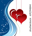 background with hearts....   Shutterstock .eps vector #69294844