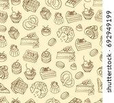 bakery  cakes dessert  pastries ... | Shutterstock .eps vector #692949199