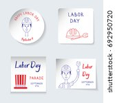 labor day theme. set of... | Shutterstock .eps vector #692950720