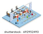 line people airport isometric... | Shutterstock .eps vector #692952493