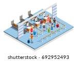 line people airport isometric... | Shutterstock .eps vector #692952493