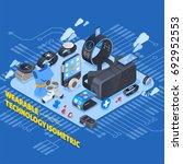 wearable technology isometric...   Shutterstock .eps vector #692952553