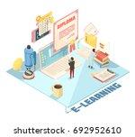 online education isometric... | Shutterstock .eps vector #692952610