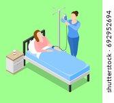 isometric people doctor... | Shutterstock .eps vector #692952694