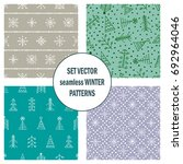 set of seamless vector patterns ... | Shutterstock .eps vector #692964046