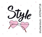 style. vector sunglasses with... | Shutterstock .eps vector #692964718