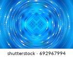 brilliant blue tunnel... | Shutterstock . vector #692967994