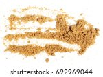 unrefined light brown cane... | Shutterstock . vector #692969044