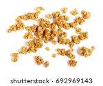 crunchy granola  muesli pile... | Shutterstock . vector #692969143