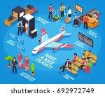 airport departure isometric... | Shutterstock .eps vector #692972749