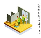 cleaning isometric composition... | Shutterstock .eps vector #692972758