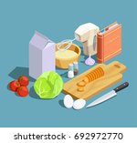 cooking icons isometric... | Shutterstock .eps vector #692972770