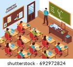 high school lesson isometric... | Shutterstock .eps vector #692972824