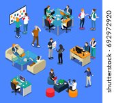 coworking isometric set with... | Shutterstock .eps vector #692972920