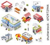 set of street restaurant and... | Shutterstock .eps vector #692972944