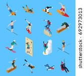 extreme sports people isometric ...   Shutterstock .eps vector #692973013