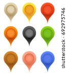 vector pointers. colorful blank ... | Shutterstock .eps vector #692975746