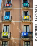 flags of independent catalonia... | Shutterstock . vector #692976988