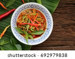 red curry pork thai food... | Shutterstock . vector #692979838