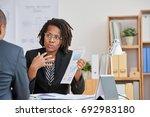 african american business woman ... | Shutterstock . vector #692983180