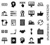 seo interface icons set. simple ...