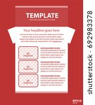 newsletter corporate vector... | Shutterstock .eps vector #692983378