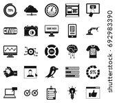 intelligence icons set. simple...