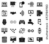 intellect icons set. simple set ... | Shutterstock .eps vector #692984980