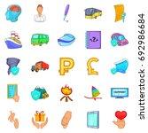 assurance icons set. cartoon... | Shutterstock .eps vector #692986684