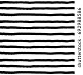 hand drawn horizontal stripes... | Shutterstock .eps vector #692988586