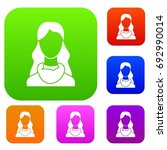 woman set icon in different... | Shutterstock .eps vector #692990014