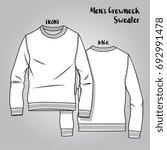 vector male knitwear crew neck... | Shutterstock .eps vector #692991478