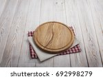 napkin. stack of colorful dish... | Shutterstock . vector #692998279