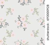 seamless folk pattern in small... | Shutterstock . vector #693000928