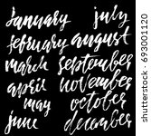hand drawn set of months.... | Shutterstock .eps vector #693001120