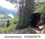 Old Wooden Outhouse For...