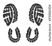 imprint soles shoes   sneakers    Shutterstock .eps vector #693006304