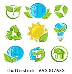 collection ecology icons. vector | Shutterstock .eps vector #693007633