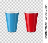 plastic cup for single use of... | Shutterstock .eps vector #693012604