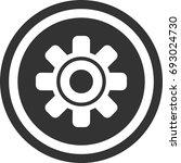 gear icon  circle sign design   Shutterstock .eps vector #693024730