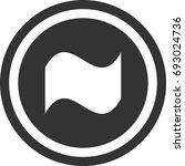 flag icon   circle sign design