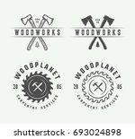 set of vintage carpentry ...   Shutterstock .eps vector #693024898