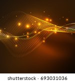 wave particles background   3d ... | Shutterstock . vector #693031036